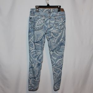 American Eagle Super Stretch Paisley Jeans sz 2